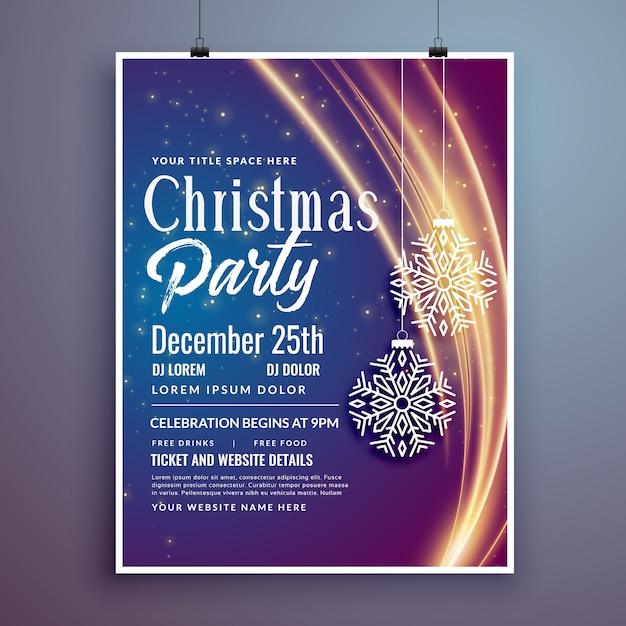 Flyer de diseño de plantilla de invitación de evento de fiesta de ...