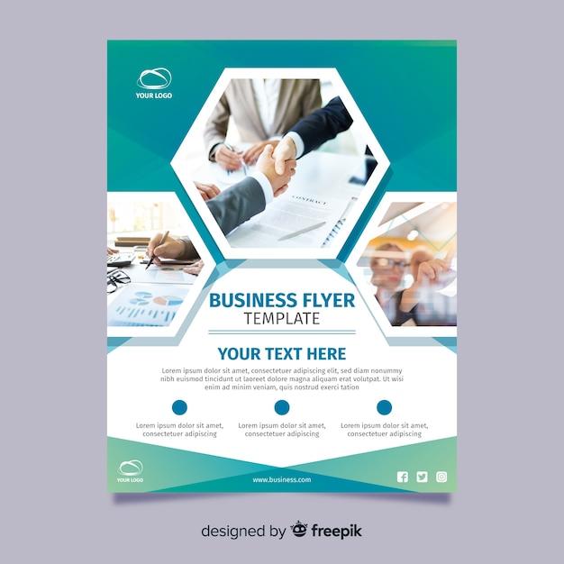 Flyer fotográfico negocios vector gratuito