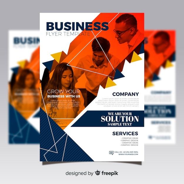 Flyer de negocio vector gratuito