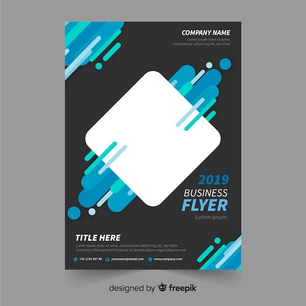 Flyer para negocio vector gratuito