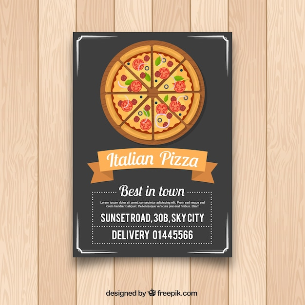Flyer pizza italiana | Descargar Vectores gratis