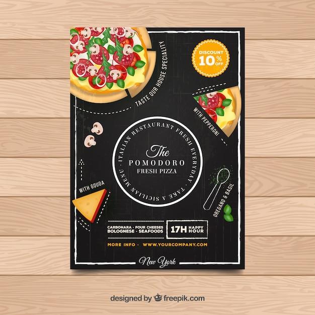 Flyer restaurante pizza vector gratuito
