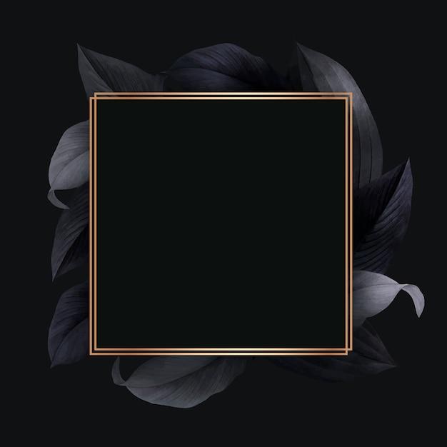 Follaje decorado marco vector gratuito