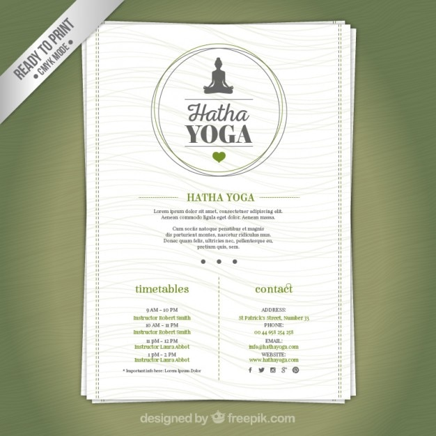 Folleto centro de Yoga | Descargar Vectores Premium