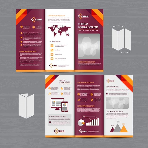 Folleto comercial tríptico folleto folleto Vector Premium