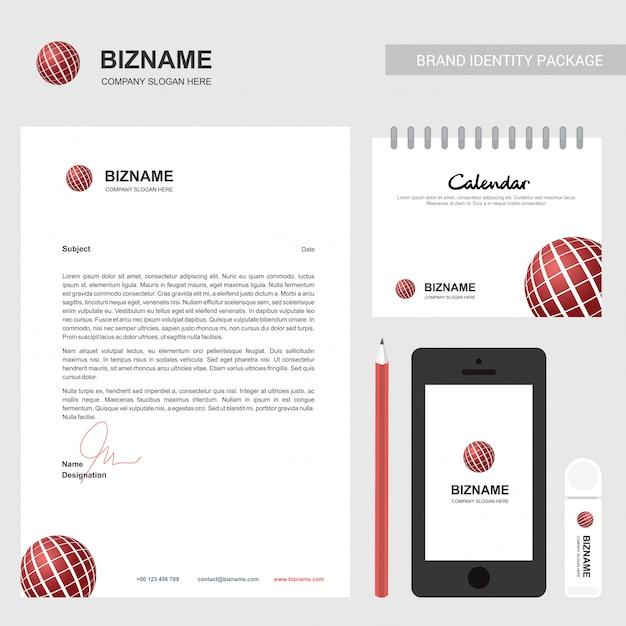 Folleto de la compañía con diseño elegent y también con logo de bola Vector Premium