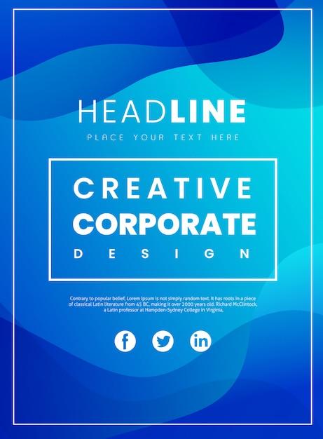 Folleto corporativo creativo Vector Premium