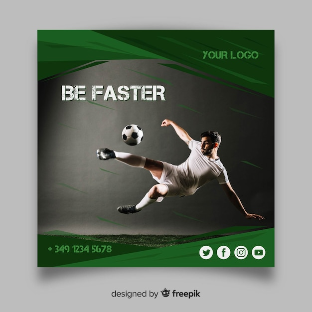 Folleto deportivo vector gratuito