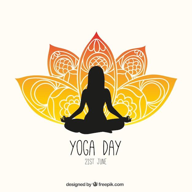 Folleto día yoga | Descargar Vectores gratis
