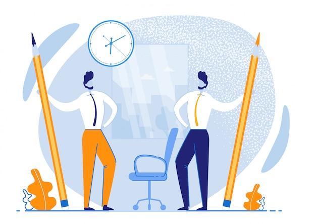 Folleto informativo gestión eficaz del tiempo. tiempo de uso más eficiente. Vector Premium
