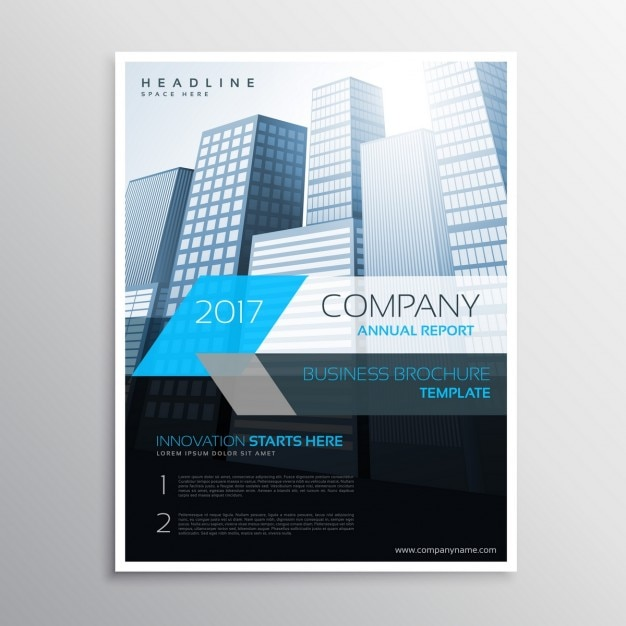 Book Cover Template Docx : Folleto moderno de empresa con edificios descargar