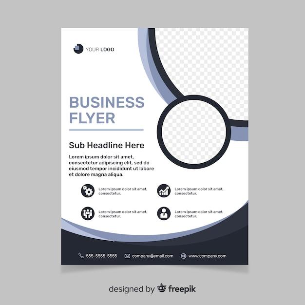 Folleto de negocio abstracto de plantilla vector gratuito