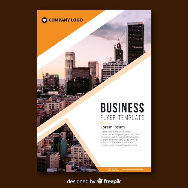 Folleto de negocios vector gratuito