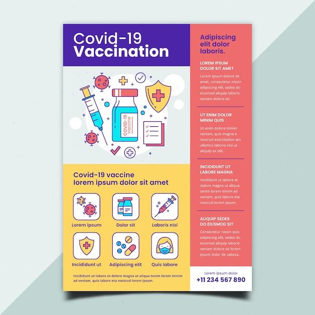 Folleto plano de vacunación contra el coronavirus Vector Premium