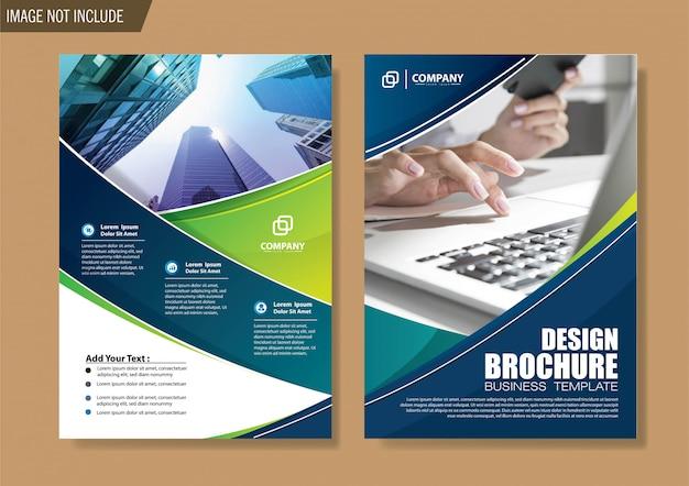 Folleto y plantilla de folleto para informe anual de diseño. Vector Premium