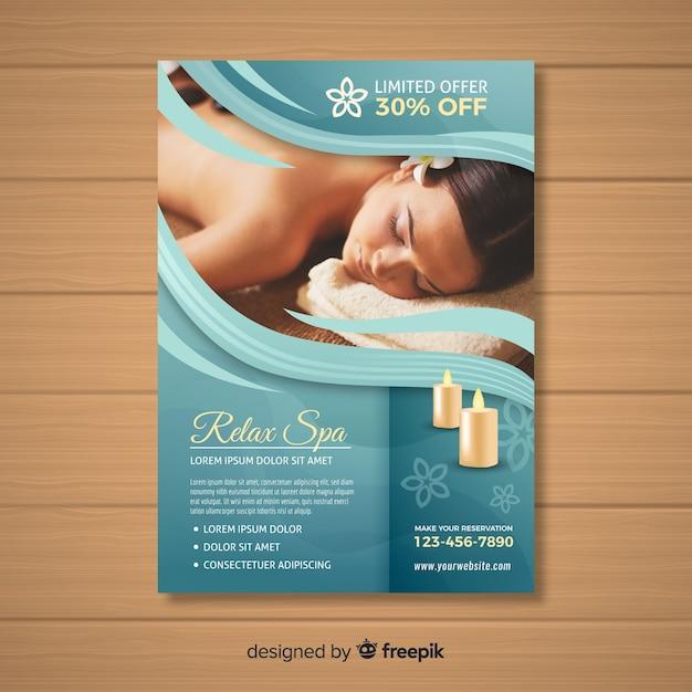 Folleto de spa vector gratuito
