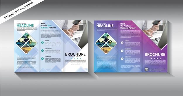 Folleto tríptico para plantilla de promoción Vector Premium