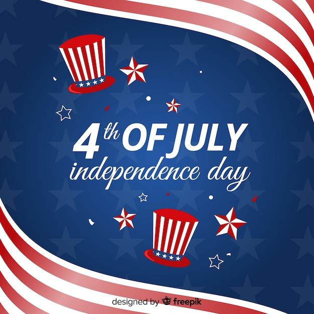 Fondo del 4 de julio -  día de la independencia vector gratuito