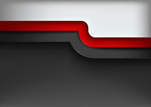 Fondo abstracto con 3 capas de colores Vector Premium
