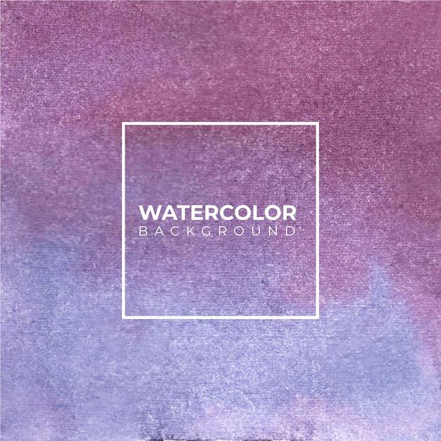 Fondo abstracto acuarela azul púrpura. el color que salpica en el papel. Vector Premium