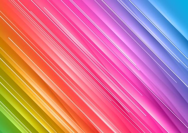 Fondo abstracto del arco iris vector gratuito