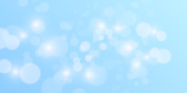 Fondo abstracto azul bokeh Vector Premium