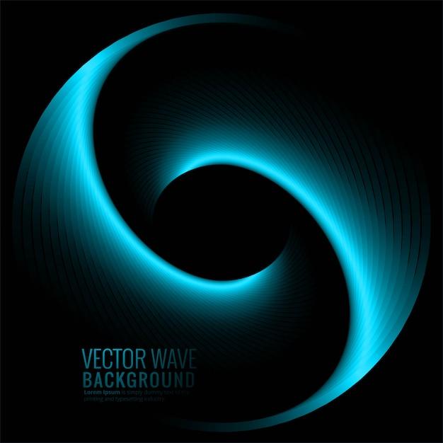 Fondo abstracto azul brillante de la onda vector gratuito