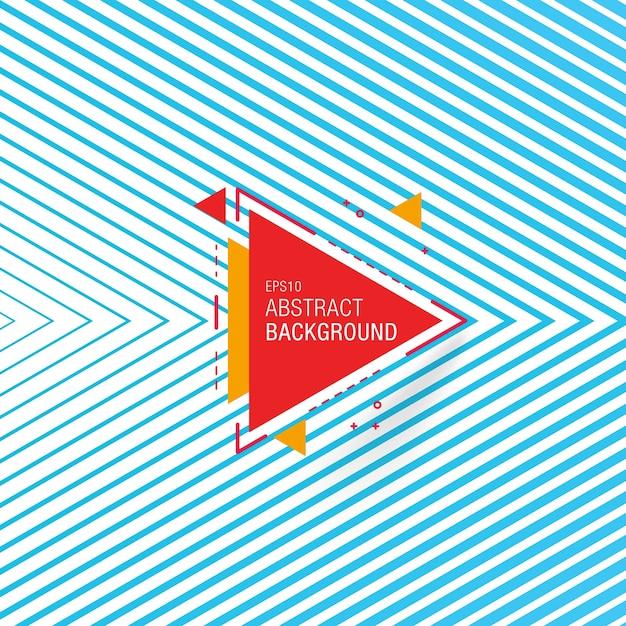 Fondo abstracto azul linear vector gratuito