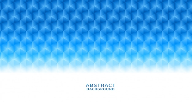 Fondo abstracto azul patrón hexagonal vector gratuito