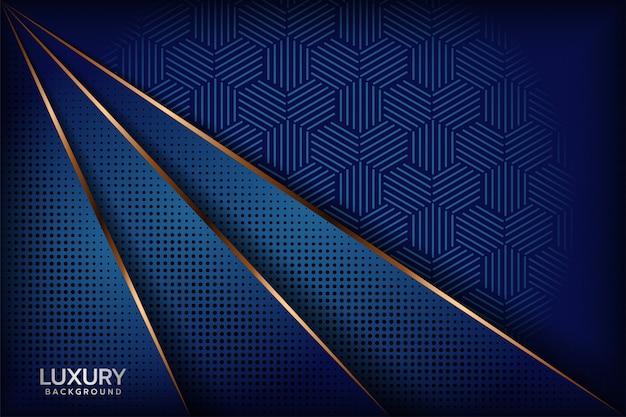 Fondo abstracto azul real Vector Premium