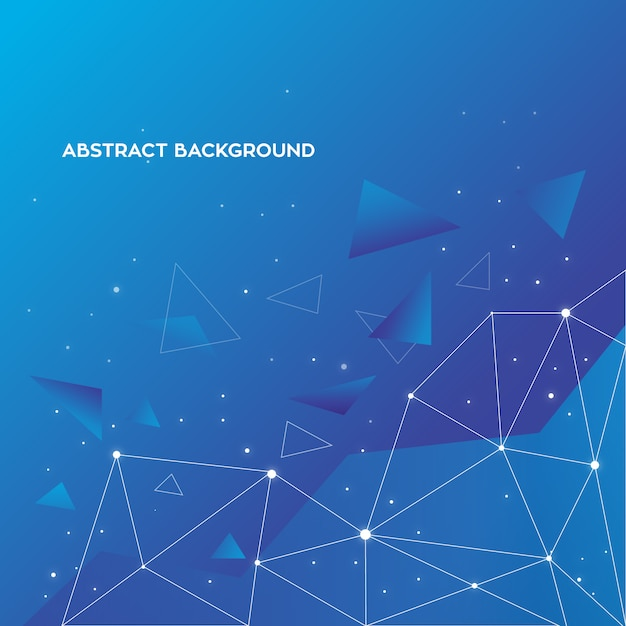 Fondo abstracto azul vector gratuito