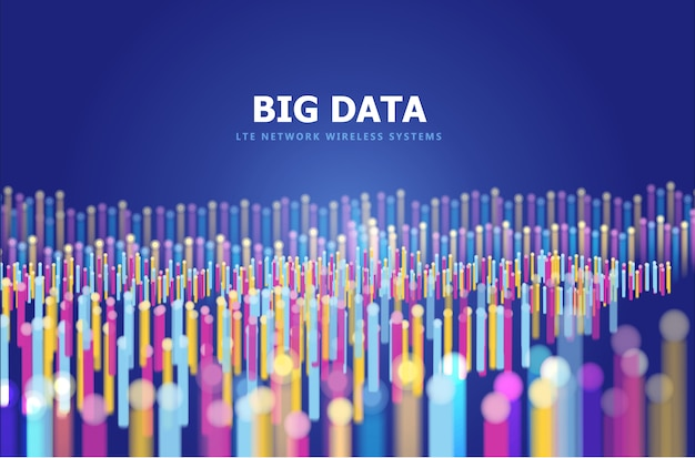 Fondo abstracto de big data Vector Premium