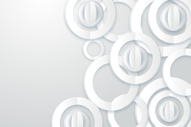 Fondo abstracto blanco en estilo de papel 3d vector gratuito
