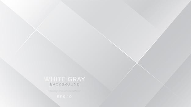 Fondo abstracto blanco gris moderno Vector Premium