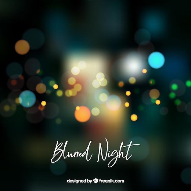 Fondo abstracto borroso de noche vector gratuito
