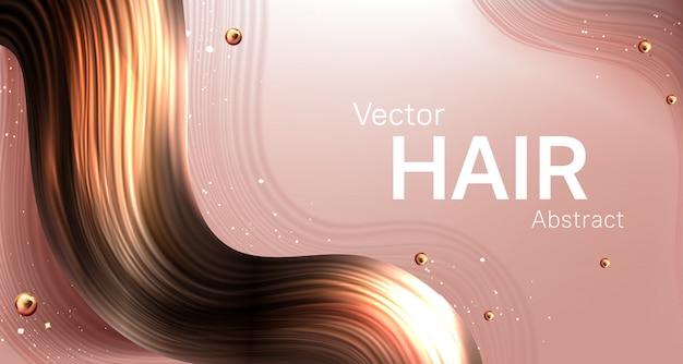 Fondo abstracto de cabello castaño realista vector gratuito
