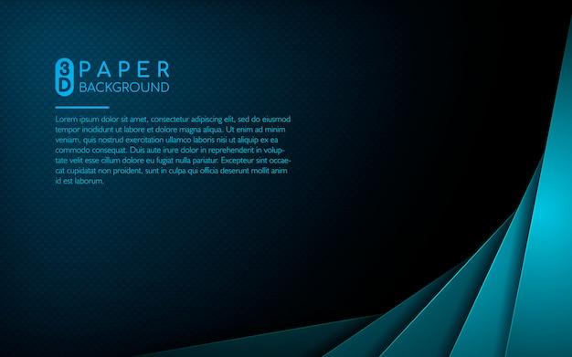 Fondo abstracto con capas de superposición azul Vector Premium