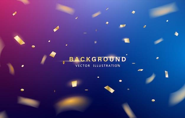 Fondo abstracto. celebración de fiesta o fondo especial de cumpleaños. Vector Premium