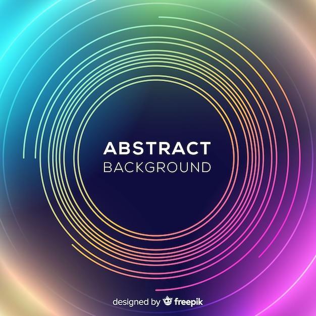 Fondo abstracto de círculos de neón vector gratuito