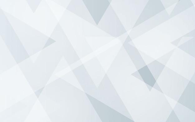 Fondo abstracto color gris y color blanco moderno geométrico Vector Premium