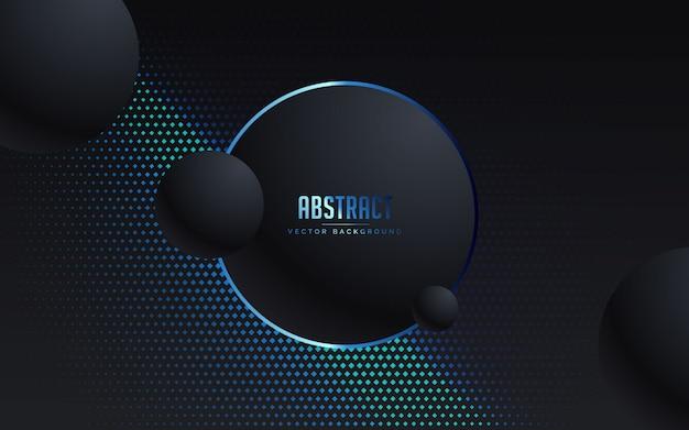 Fondo abstracto con color negro y azul de lujo Vector Premium