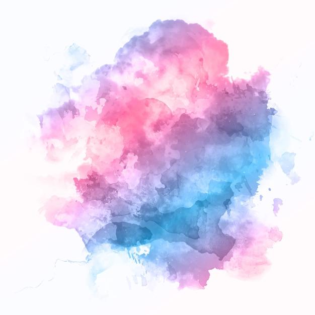 Fondo abstracto con una colorida textura de acuarela detallada vector gratuito