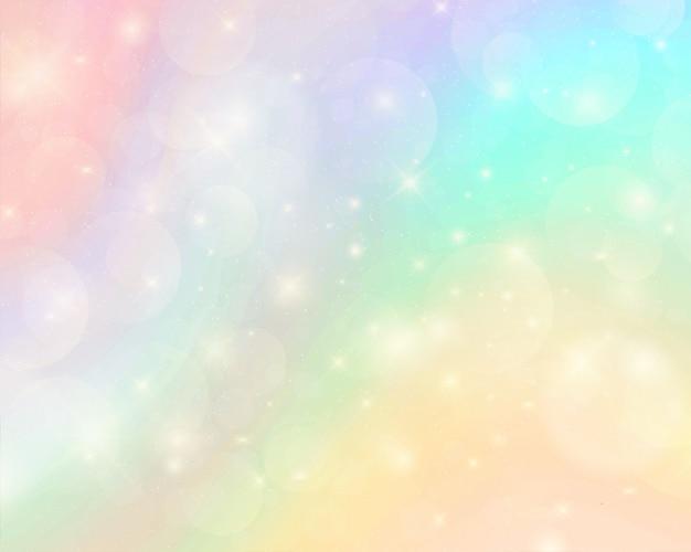 Fondo abstracto colorido arco iris acuarela Vector Premium