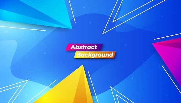 Fondo abstracto colorido dinámico Vector Premium