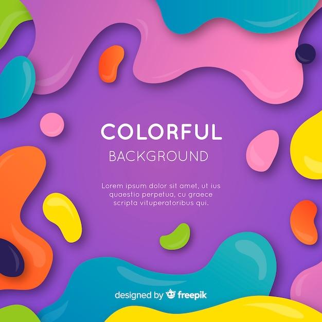 Fondo abstracto colorido con diseño plano vector gratuito