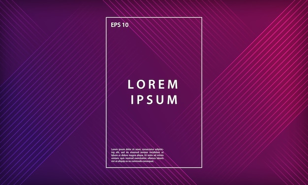 Fondo abstracto colorido línea geométrica mínima Vector Premium