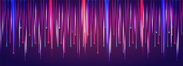 Fondo abstracto colorido del movimiento de la luz laser que cae. Vector Premium