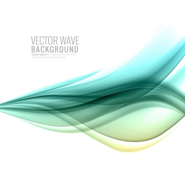 Fondo abstracto colorido suave ola de negocios vector gratuito