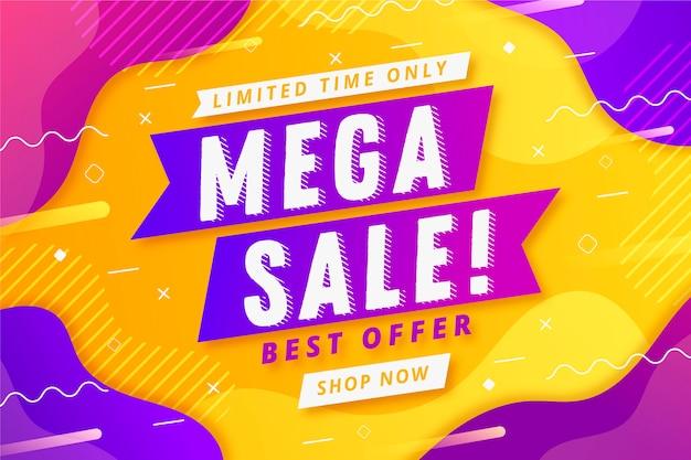 Fondo abstracto colorido ventas vector gratuito