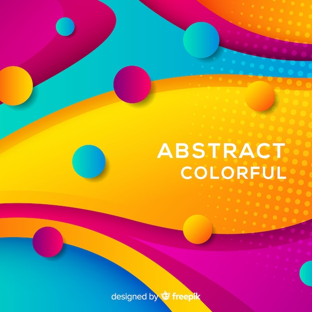 Fondo abstracto colorido Vector Premium